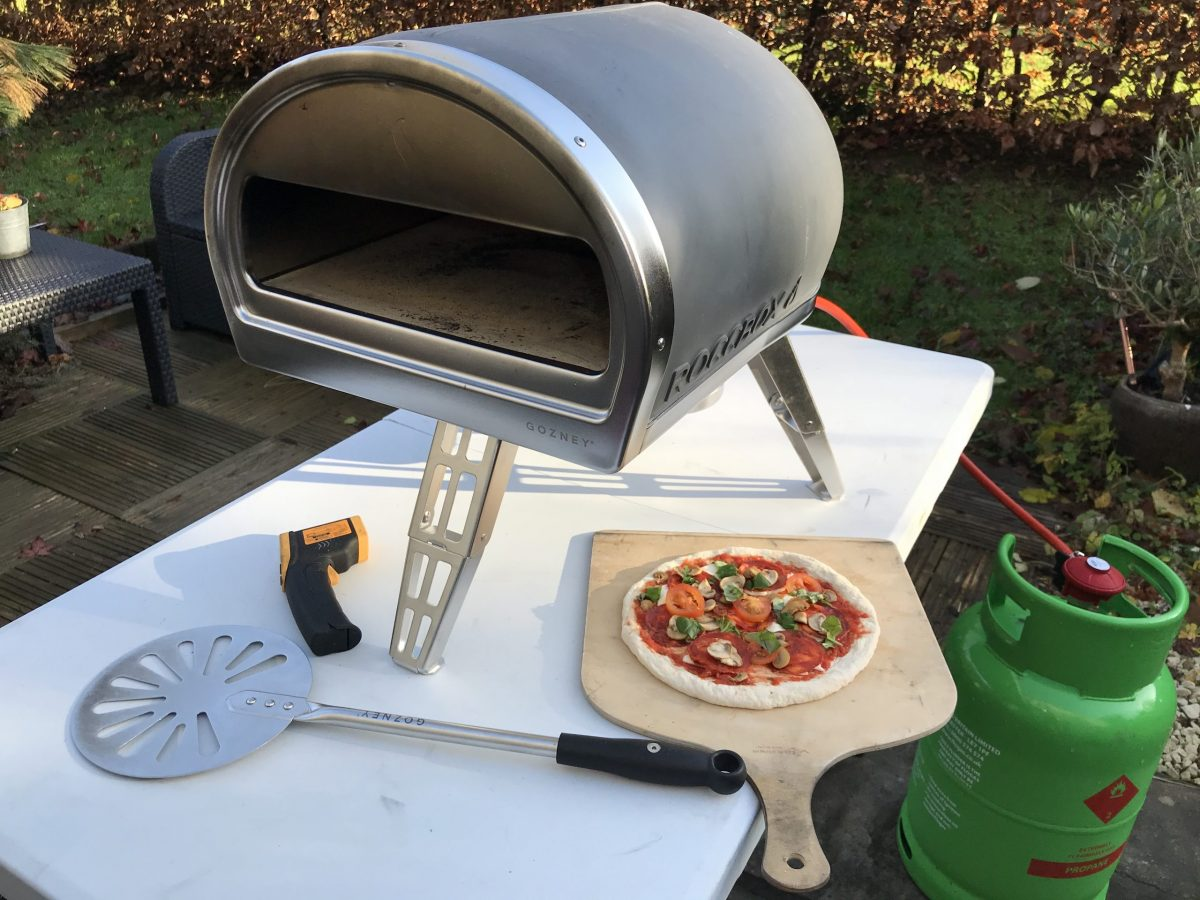 Meatball Pizza Cooked in the Gozney Roccbox Pizza Oven!